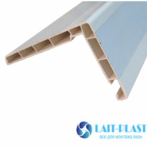 Купить нащельник жесткий угол 58х88 мм (белый)