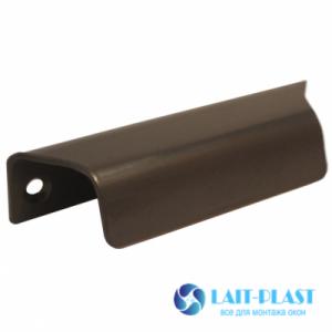 ручка балконная металл коричневая